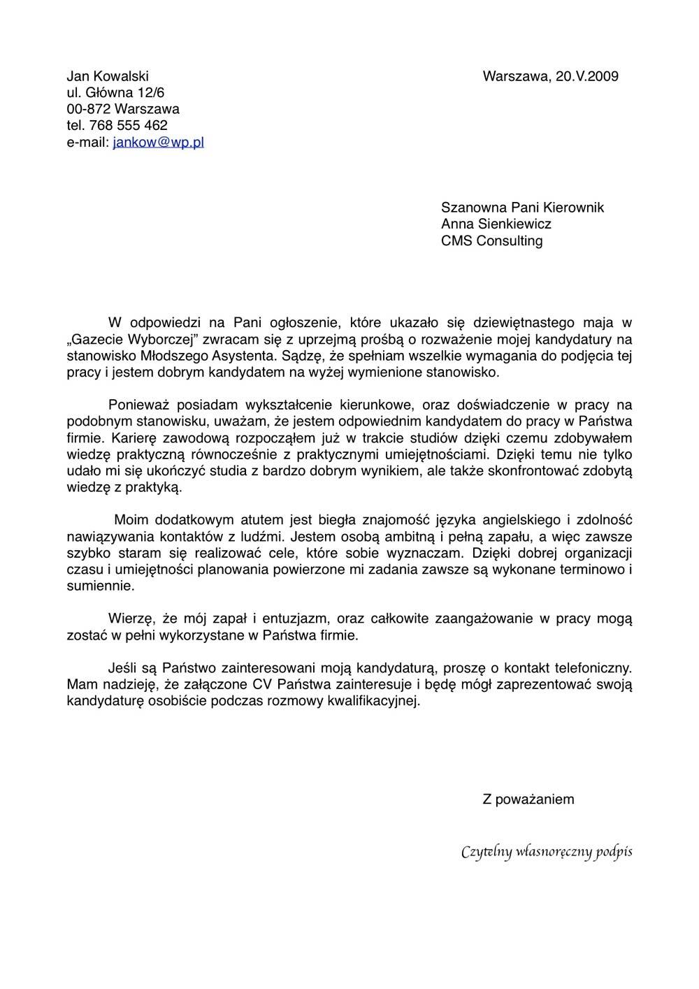 List Motywacyjny Do Pobrania Doc Pdf Jpg Za Darmo